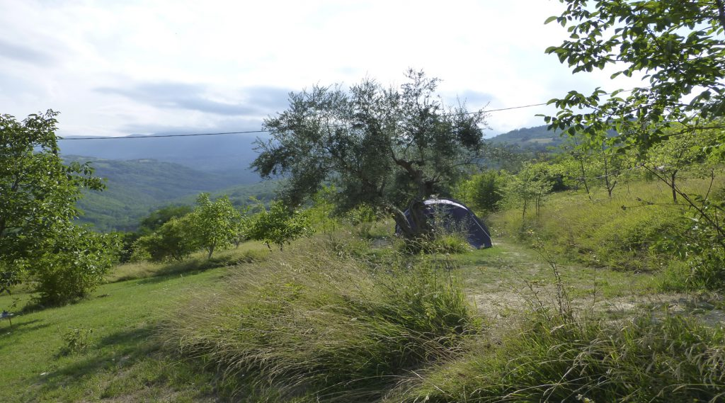 Groene camping Abruzzo Italie