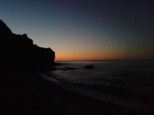Zonsondergang camping adriatische zee