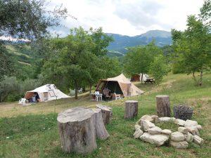 Camping tent huren in Abruzzo Italie