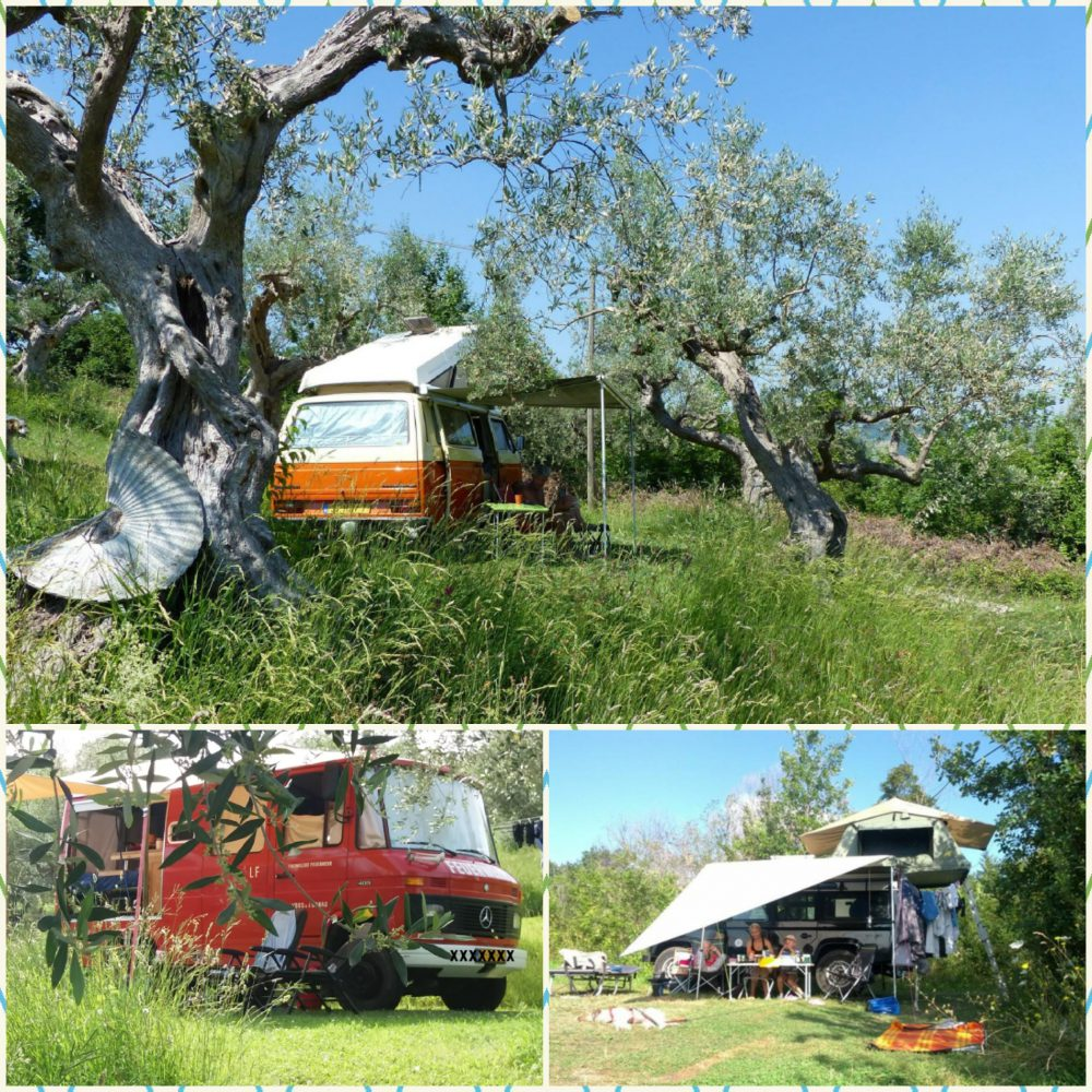 Freedom with a campervan at Rocca di Sotto