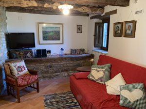 Camera soggiorno, casa rustica