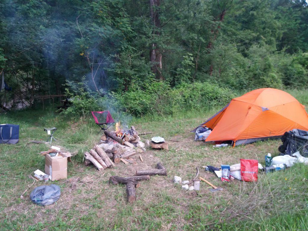 Campeggiare nella natura