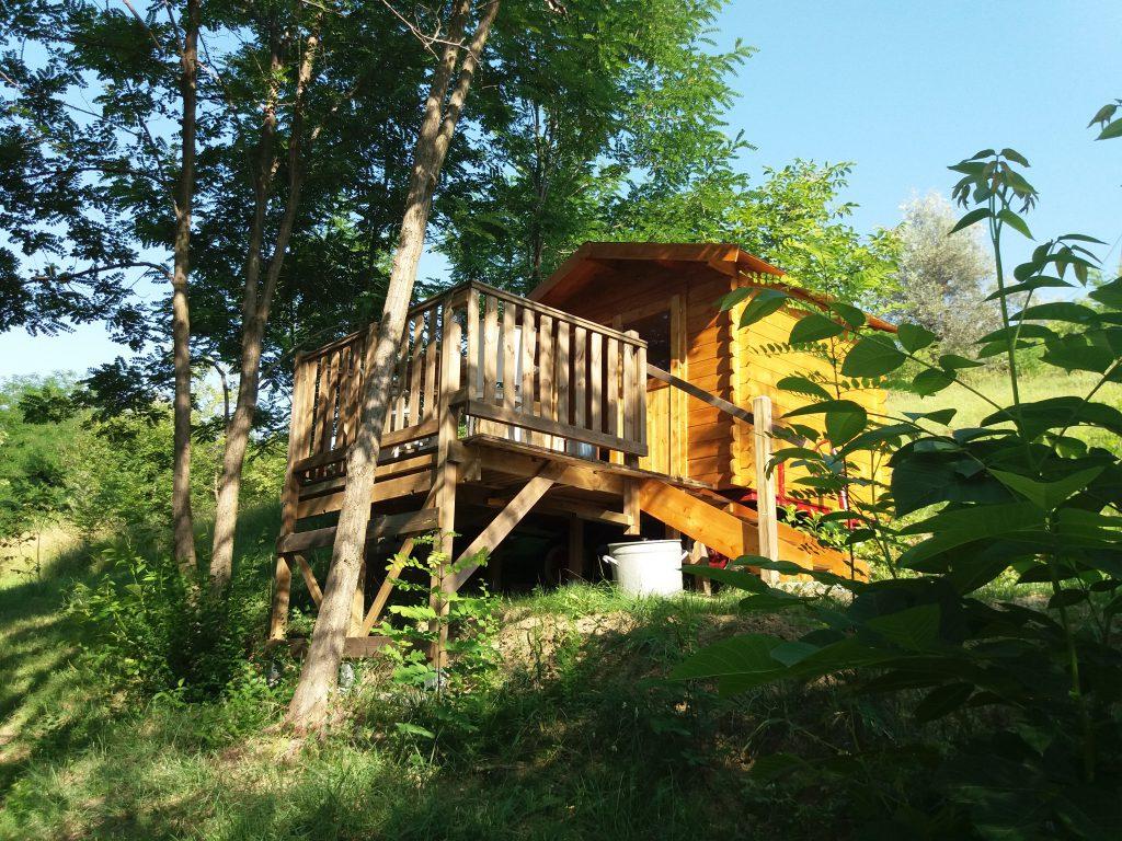 Naturhütte in Abruzzo, Italien
