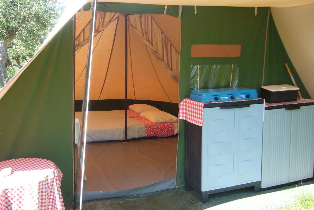 Tenda arredata in Abruzzo
