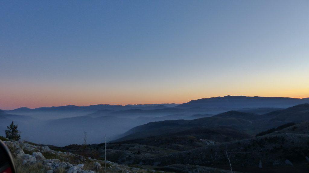 Zonsondergang Gran Sasso