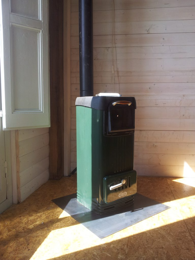 Log cabin in Olive grove