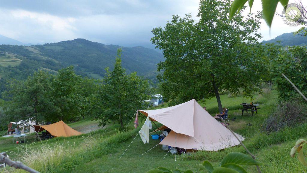 Camping zwischen Olivenhain
